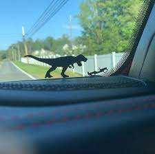Jeep Windshield T Rex Easter Egg Companion Vinyl Decal