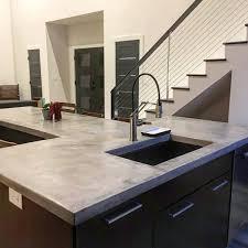 concrete countertops in the kitchen