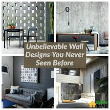 33 Unbelievable Wall Designs You Never Seen Before Dexorate