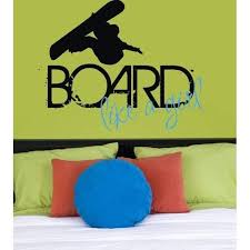 Board Like A Girl Vinyl Wall Decal Jack And Jill Boutique