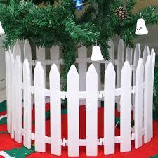 1pc White Plastic Picket Fence Miniature Garden Christmas Xmas Tree Decoration Shopee Philippines