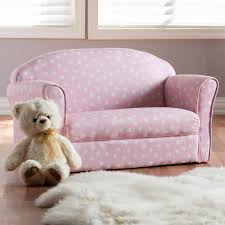 Harriet Bee Hednesford Pink And White Heart Patterned Fabric Upholstered Kids Polyester Loveseat Wayfair