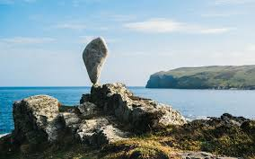 Stone balancing artist Adrian Gray's latest work on the Isle of Man, in  pictures