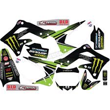 D Cor Visuals Kawasaki Monster Energy Complete Graphics Kit 20 20 738 Dirt Bike Motocross Dennis Kirk