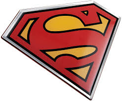 Amazon Com Fan Emblems Superman Domed Chrome Car Decal Classic Logo Black Red Yellow And Chrome Arts Crafts Sewing