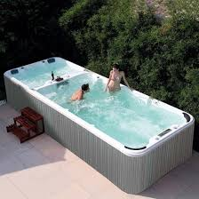 fiberglass swim spa pool hot tub