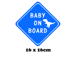 Baby On Board Car Decal Vinyl Sticker Baby On Board With Dinosaur Car Window Ebay