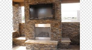 stone veneer rock fireplace tile