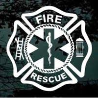 Maltese Cross Fire Rescue Window Decal And Car Sticker Design 01 Fire Rescue Car Sticker Design Vinyl Decal Stickers