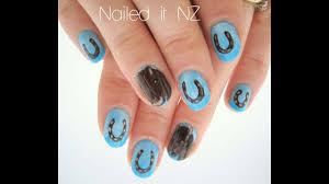 horse shoe nail art tutorial horse