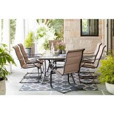 hampton bay crestridge 7 piece steel