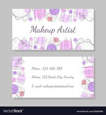visit card makeup vector images 29