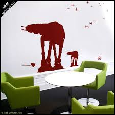 Star Wars Wall Decal At At Walkers Silhouettes Being Hooked Etsy