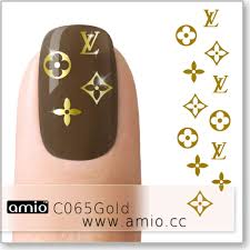 Water Nail Decal Louis Vuitton Lv Gold C065gold Us 0 30 Amio Inc Supply Water Nail Decal Nail Sticker Tattoo Sticker