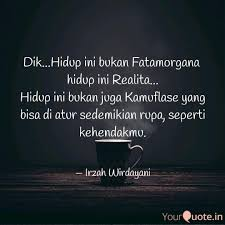 dik hidup ini bukan fat quotes writings by irzah