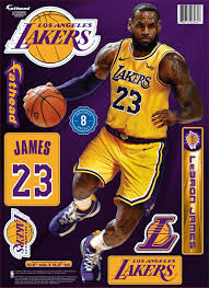 Fathead Los Angeles Lakers Lebron James Wall Decal Multi Colored One Size Olympia Sports