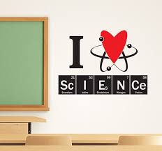 I Heart Science Wall Decal Two Color Design For Science Etsy Science Decor Science Classroom Vinyl Decals