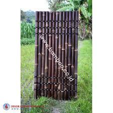 Black Bamboo Half Raft Panel