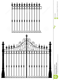 Gate And Fence Stock Vector Illustration Of Nouveau 10575001