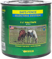 Safe Fence Electric System 1 1 2 Poly Tape Powerfields Wire Tape Rope Electric Fencing
