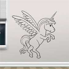 Unicorn Wall Decal Einhorn Horse Cartoon Cute Unicorn Vinyl Sticker Living Room Wall Decor Cool Nursery Wall Sticker Stickers Living Wall Stickernursery Wall Stickers Aliexpress