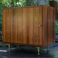1960s danish vinyl lp hi fi cabinet in