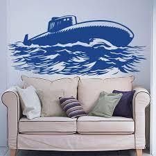 Zooyoo Navy Military Submarine Wall Decal Art Decor Living Room Decoration Bedroom Nursery Wall Sticker Murals Sticker Mural Wall Stickernursery Wall Stickers Aliexpress