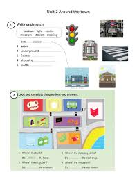 Unit 2 around the town - Interactive worksheet