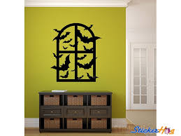 Bat Invasion Window Vinyl Wall Decal Graphics Halloween Home Decor