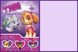 Free Printable Paw Patrol Party Invitation Card Invitations
