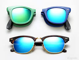 ray ban color mirror sunglasses