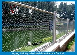 Decorative School Playground Galvanized Chain Link Wire Fence Chain Wire Fencing