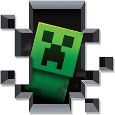 Amazon Com Jinx Minecraft Creeper Inside Plus Pig And Cow Removeable Wall Cling Decal Sticker For Kids Room Toys Games