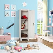 Kids Storage Metal Locker For Bedroom Kids Room Metal Kids Storage Lockers With 2 Adjustable Shelves