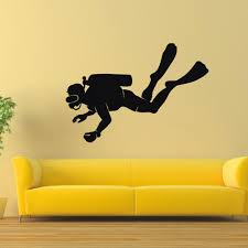 Shop Scuba Diver Vinyl Wall Art Sticker Overstock 10578103