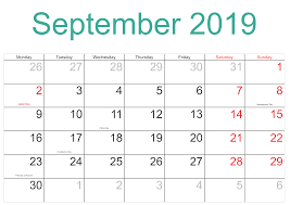 printable september 2019 calendar nz