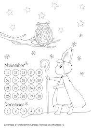 Sinterklaas Aftelkalender Werkblad Kleur De Kleurplaat En Tel