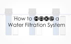 diy whole house water filter making a