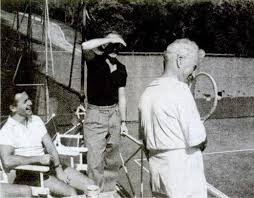 Norman Lloyd - Norman and Charlie Chaplin during a tennis ...