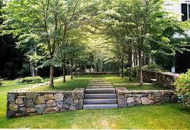 garden design create level ground to