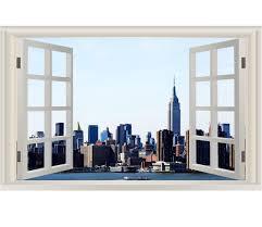 Vwaq Manhattan Window Wall Sticker New York City Skyline Wall Decal