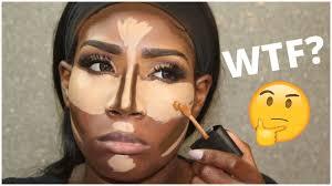 contour before foundation makeup hack