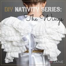 diy series nativity angel the wings