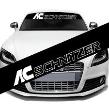 2020 Ac Schnitzer Front Windshield Banner Decal Vinyl Car Sticker Automobiles Window Exterior Stickers Decoration Diy Emblem Car Styling From Mingyamaoyi2020 11 05 Dhgate Com