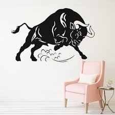 Angry Bull Wall Stickers Animals Living Room Home Decor Waterproof Wall Decals Farm Decoration Creative Vinyl Decal Spain Wall Murals Stickers Wall Peels From Joystickers 11 04 Dhgate Com