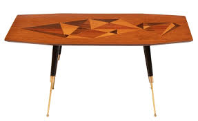 heals inlaid marquetry coffee table