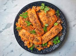 Za'atar Crusted Salmon with Roasted ...