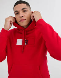 Tommy Hilfiger x Lewis Hamilton Capsule chest flag logo hoodie in red | ASOS