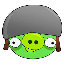Helmet Pig! | Angry birds pigs, Angry birds, Bird template
