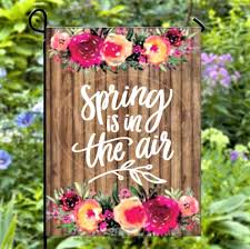 spring is in the air garden flag